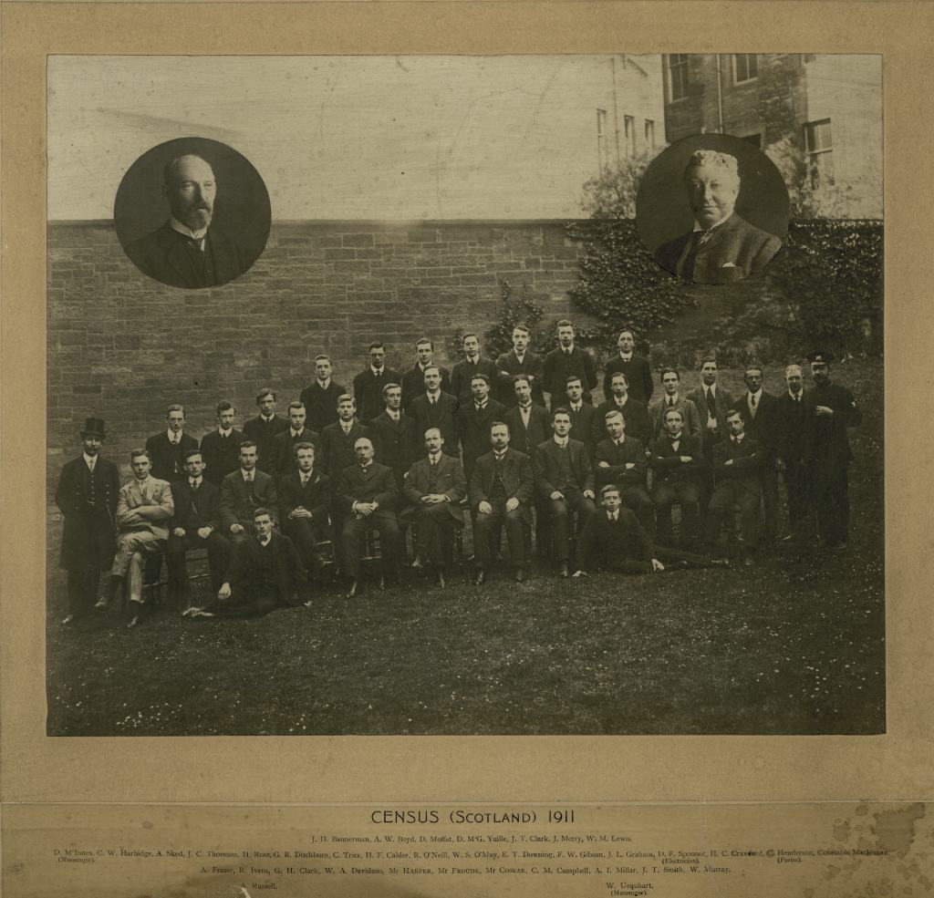 The largely male staff of the 1911 census