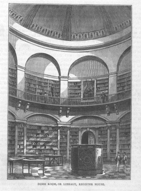 Adam Dome, General Register House. Illustration printed p.369 in 'Old & New Edinburgh Vol.1' by James Grant