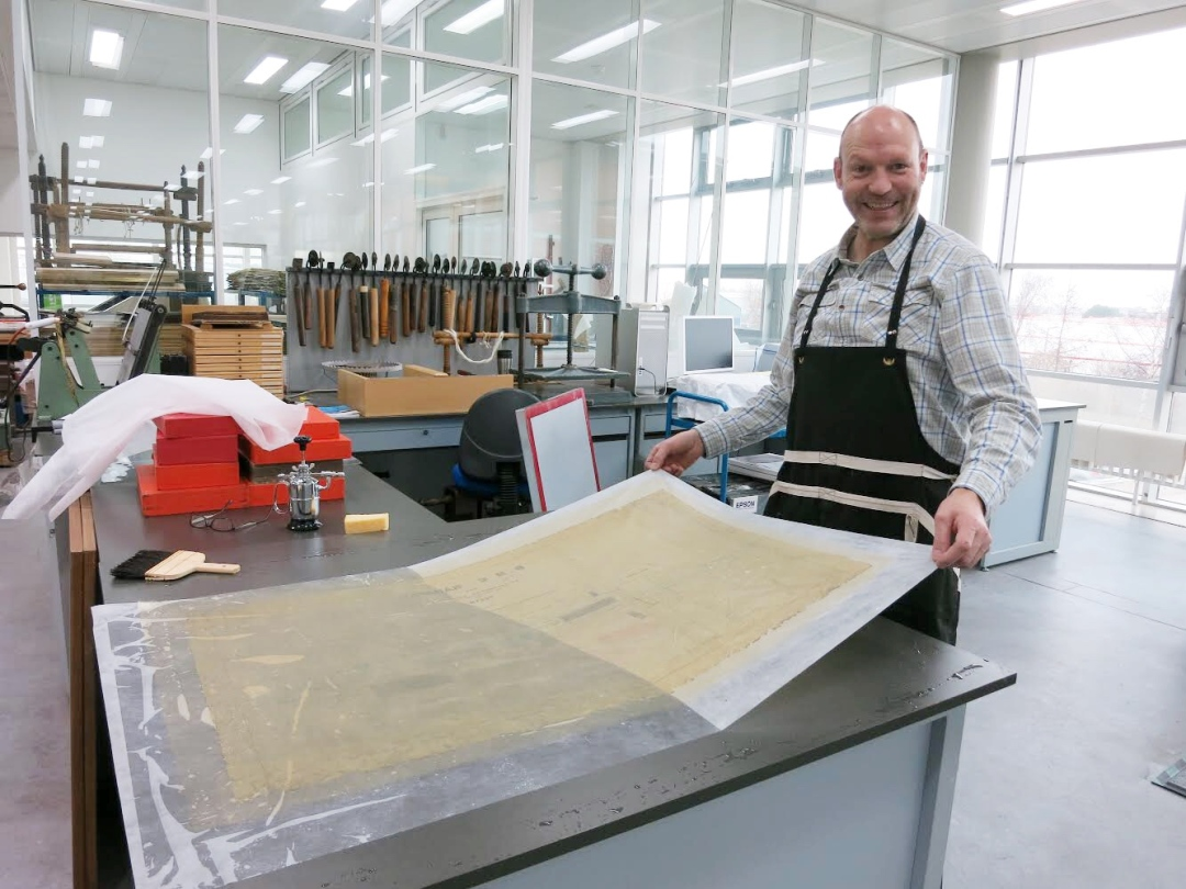 Conservator Andy McFarlane