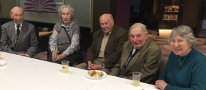 Dr Murray with retired members of staff