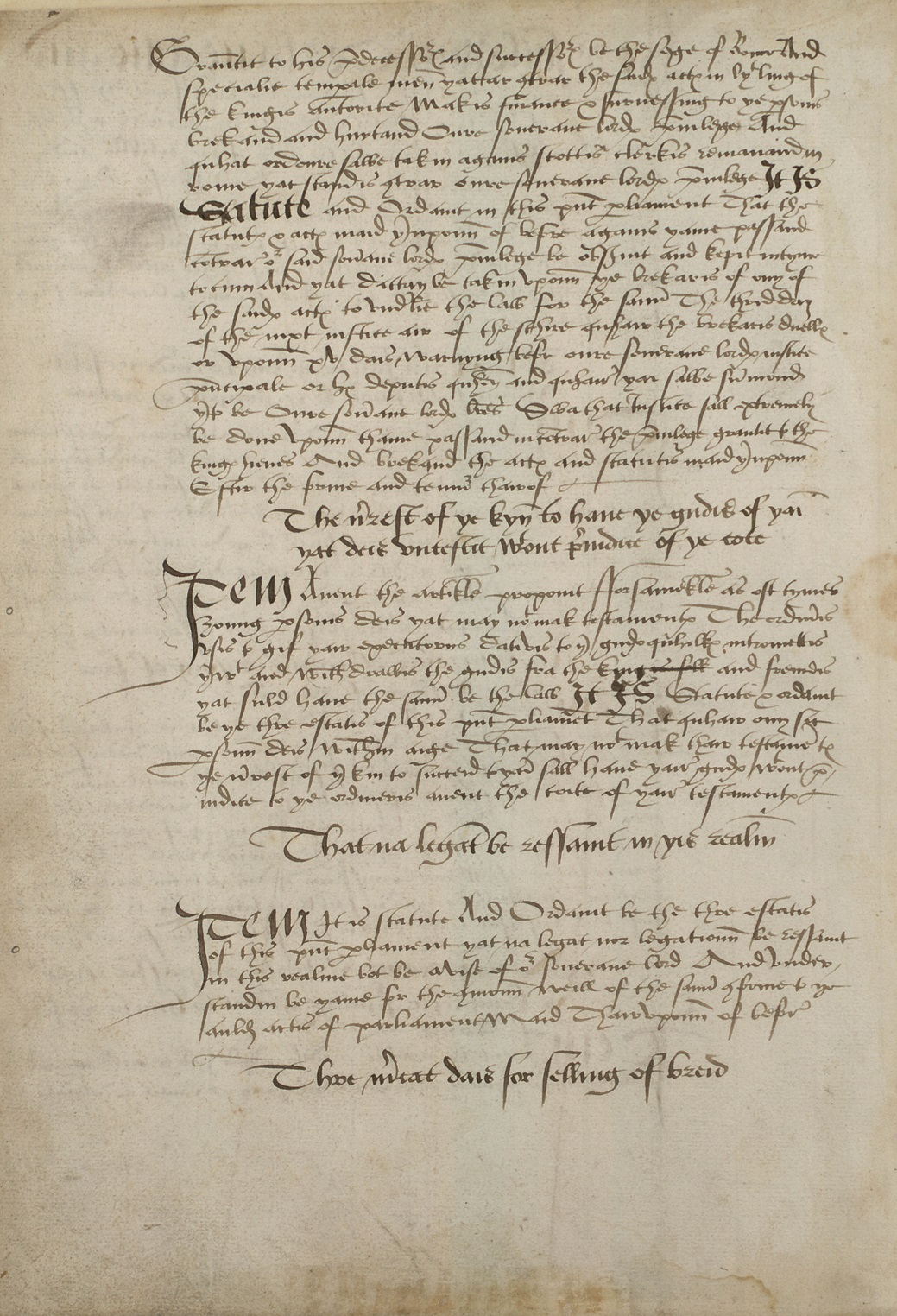 manuscript acts of the scottish parliament