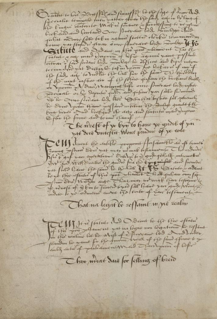 manuscript acts of the scottish parliament
