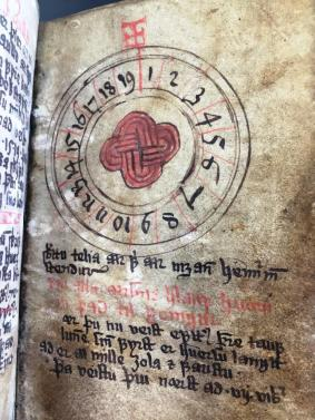 Icelandic calendar & book of devotion, circa 1588-89