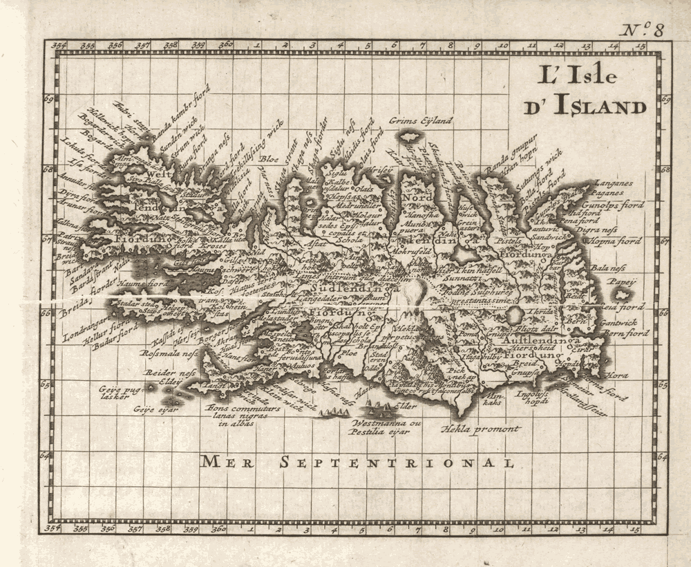 Map of Iceland c 1748 RHP22361 3 George Louise Le Rouge