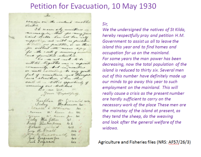 Petition for Evacuation 1930