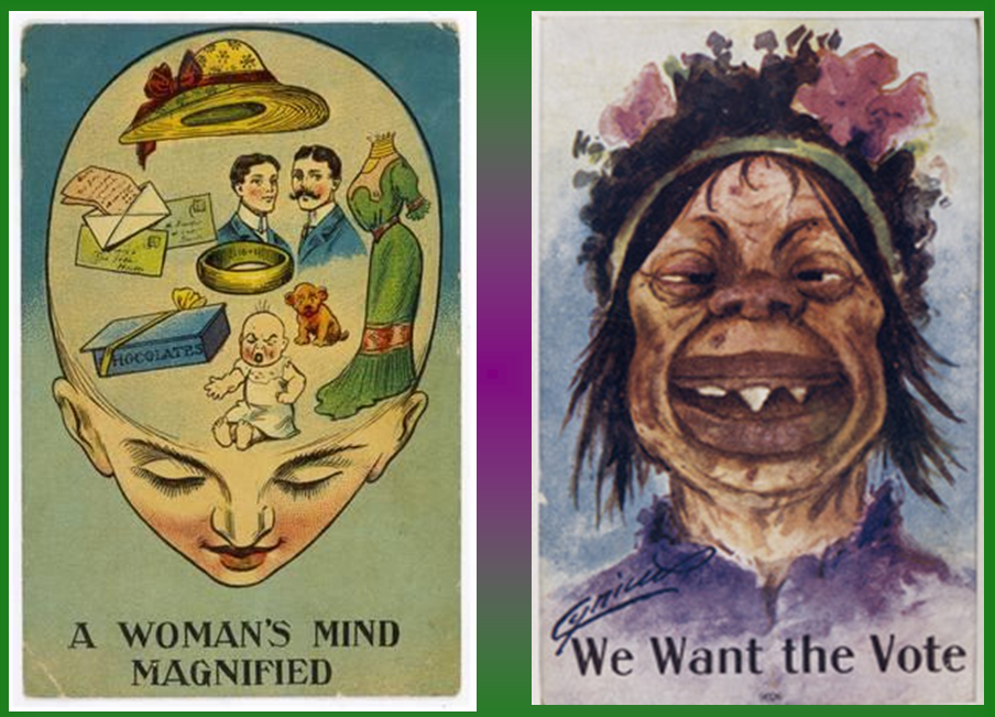 Anti suffrage posters