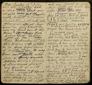 POW Andrew Clingan diary