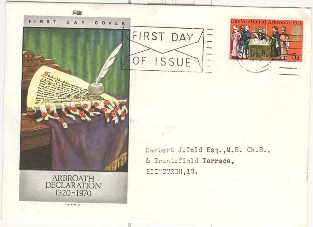 1970 stamp and first day cover