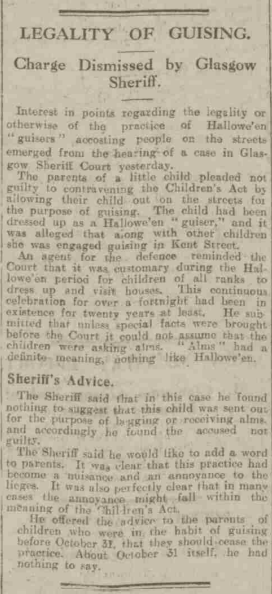Aberdeen Press and Journal, Thursday, October 31, 1929 (Aberdeen Journals Ltd). Full Article