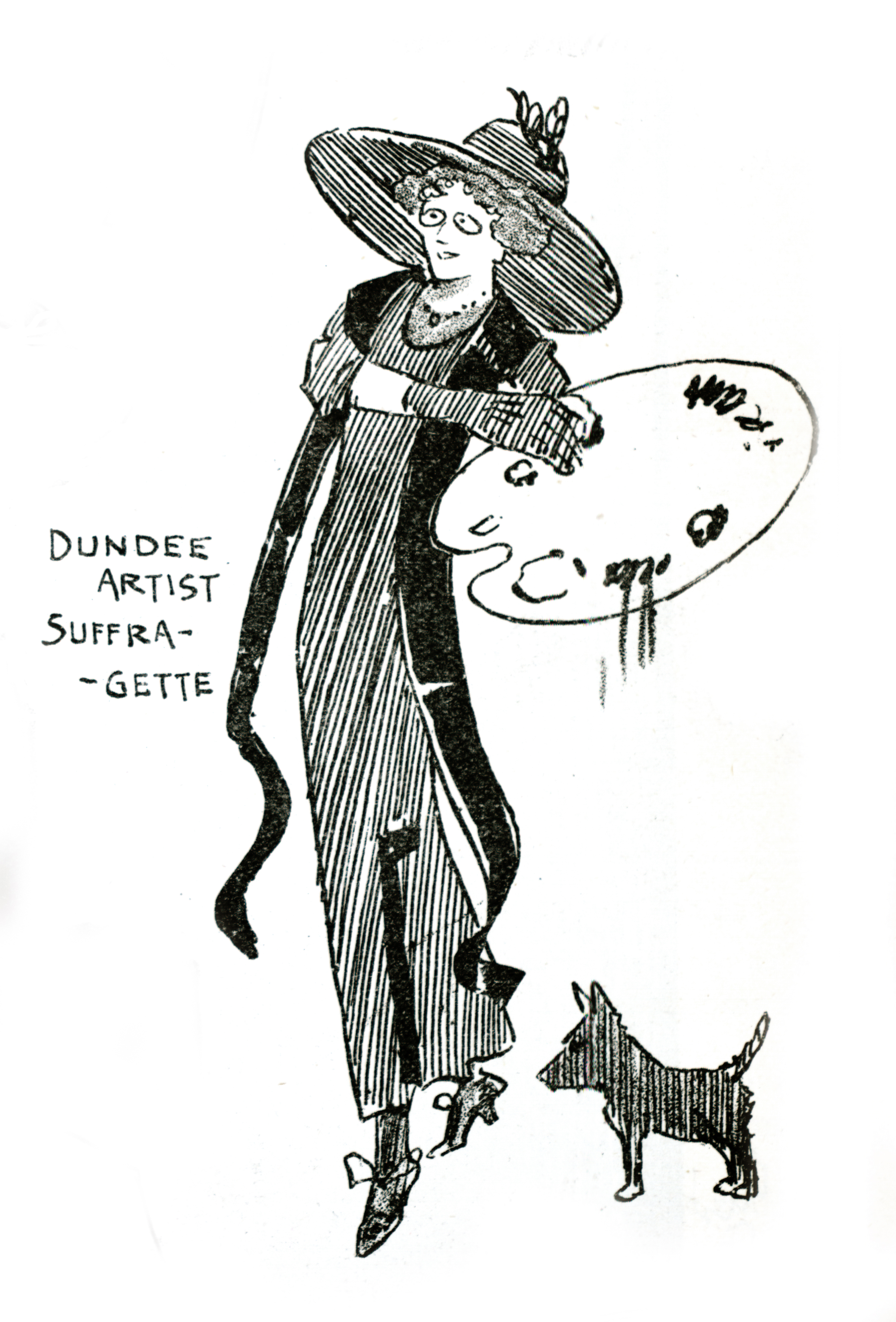 Illustration of Ethel Moorhead from the magazine, The Wizard of the North (no.401, March 1912, p.7). Courtesy of Libraries, Leisure and Culture Dundee