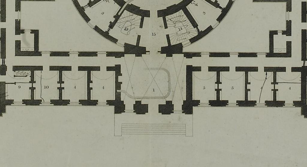 Detail of ground plan, 4 July 180